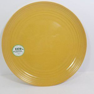Set of 4 Bamboo Melamine Dinner Plates